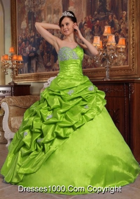 Puffy Sweetheart  2014 Quinceanera Dresses with Beading