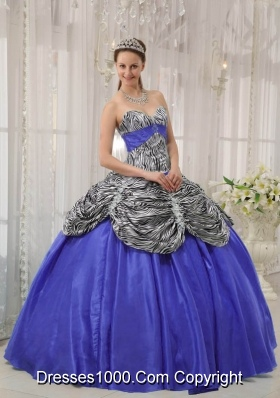 Purple Puffy Sweetheart Ruffles Quinceanera Dress for 2014