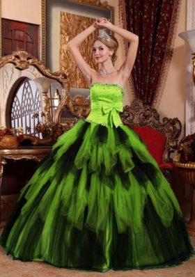 Wonderful Ball Gown Strapless Beading Long Quinceanera Gowns