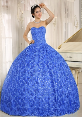 2014 New Style Embroidery Sequins Sweetheart Quinceanera Dresses