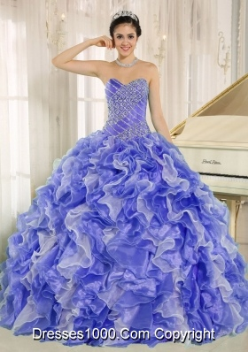 2014 Spring Sweetheart Pretty Quinceanera Dresses with Beading and Ruffles