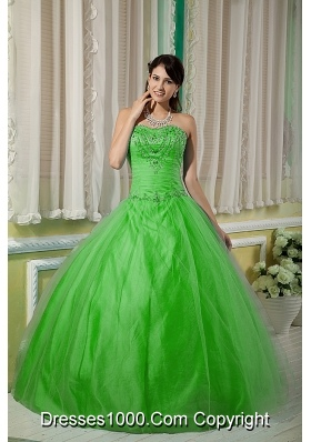 Cheap Sweetheart Beading 2014 Puffy Quinceanera Dresses