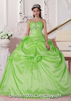 Discount Ball Gown Sweetheart Taffeta Beading Quinceanera Dresses