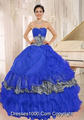 New Style Wholesale Sweetheart Ruffles Quinceanera Dresses With Beading