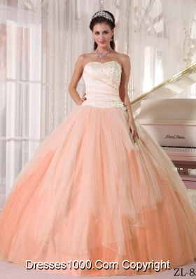 Affordable Puffy Sweetheart Beaded Dresses For Quinceaneras