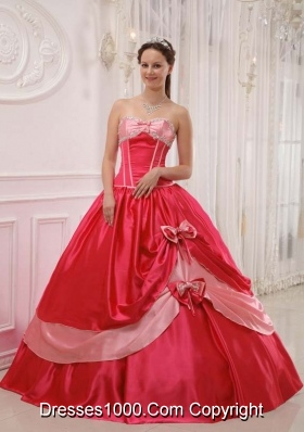 2014 Elegant Puffy Sweetheart  Appliques and Beading Quinceanera Dress with Bow
