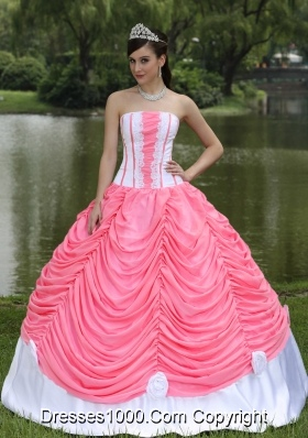 2014 Custom Made Quinceneara Dresses with Pick-ups Strapless