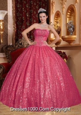 Gorgeous Puffy Sweetheart Sequins 2014 Quinceanera Dresses