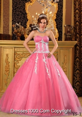 Popular Princess Sweetheart Sweet 16 Dresses with Appliques