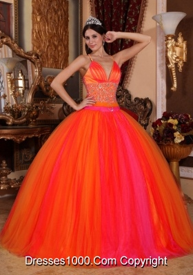The Super Hot Puffy V-neck 2014 Beading Quinceanera Dresses