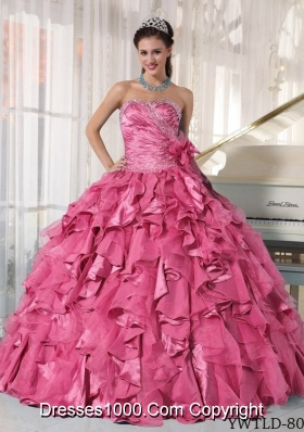 New Style Sweetheart Quinceneara Dresses with Beading and Ruffles