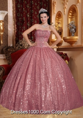 Sweetheart Puffy Sequins Cheap Sweet 16 Dresses On Sale
