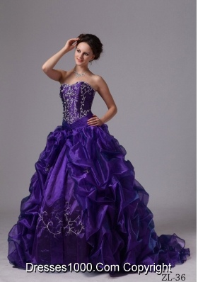 Ball Gown Sweetheart Appliques and Pick-ups For Quinceanera Dress