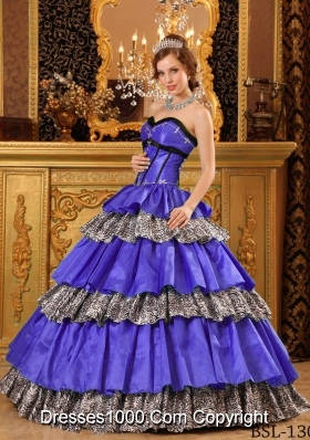 Popular Princess Sweetheart Taffeta Ruffles Purple Quinceanera Dresses