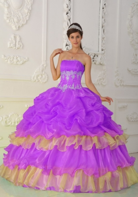Strapless Beading and Ruffles Brand New Pick-ups Quinceanera Dress
