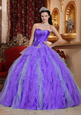 Sweetheart Beading Dresses For Quinceaneras with Ruffles and Ruching