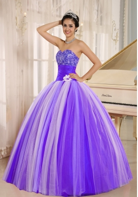 2014 New Arrival Strapless For Quincanera Dress with Appliques