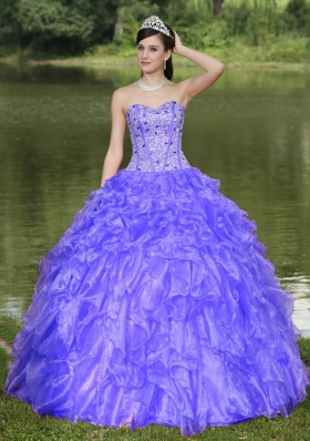 Clearance Quinceanera Dress With Sweetheart Beaded Ruffles Layered Decorate