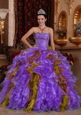 Exclusive Ball Gown Sweetheart Beading Ruffles Quinceanera Dress