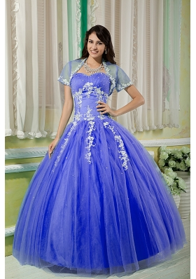 Purple Ball Gown Sweetheart Dresses For Quinceaneras with Appliques