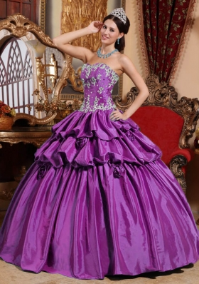 Ball Gown Sweetheart Appliques Dresses For a Quinceanera for 2014