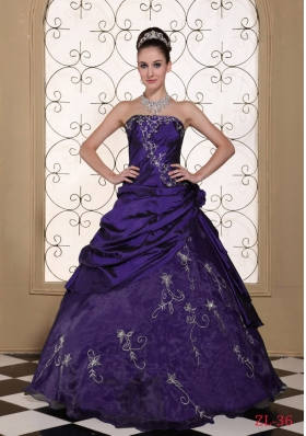 Exclusive Sweet 15 Dresses with Embroidery and Flowers  Strapless