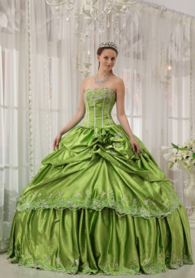 Discount Strapless Quinceneara Dresses with Flowers and Appliques