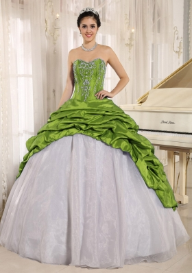 Luxurious Embroidery and Pick-ups Sweetheart Dresses For a Quince