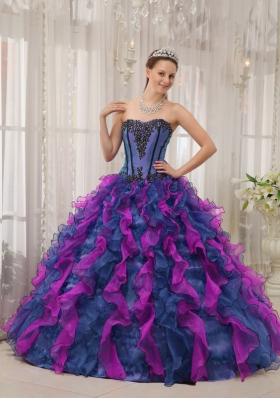Princess Multi-colored Sweetheart Appliques Quinceanera Dresses for 2014