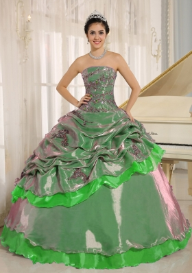 2014 Multi-color Embroidery Decorate Quinceanera Dress Clearance with Strapless