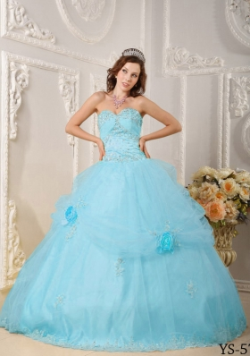 Beautiful Puffy Sweetheart Beading and Appliques 2014 Quinceanera Dresses