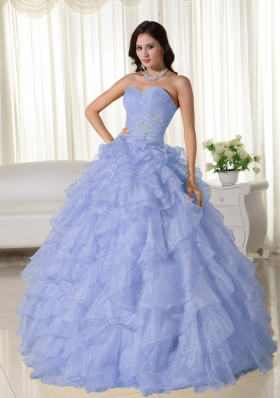 2014 Classical Puffy Sweetheart Appliques Quinceanera Dresses with Ruffles