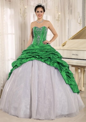 2014 Luxurious Colourful Quinceanera Dress with Embroidery Sweetheart Pick-ups