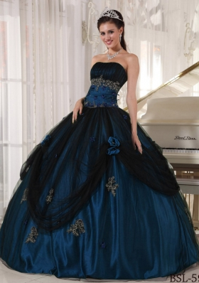 New Style Puffy Strapless Beading 2014 Quinceanera Gowns