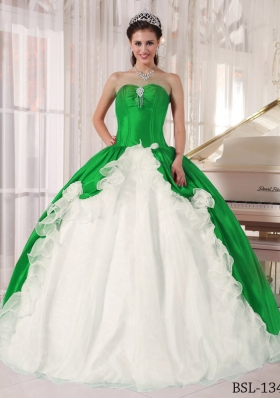 Colourful Puffy Sweetheart with Beading for 2014 Quinceanera Dress