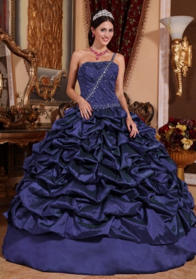 Discount Ball Gown One Shoulder Quinceanera Dress with Pick-ups