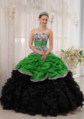 Brand New Puffy Sweetheart for 2014 Quinceanera Dress with Pick-ups