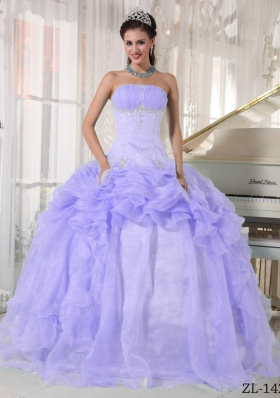 Beautiful Puffy Strapless Ruffles and Beading Quinceanera Dresses for 2014