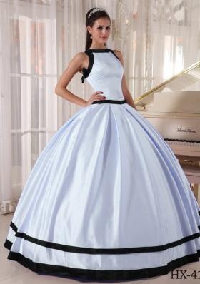 Colourful Elegant Ball Gown Bateau Satin 2014 Long Quinceanera Dress