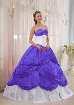Exquisite Puffy Sweetheart Appliques 2014 Quinceanera Dresses