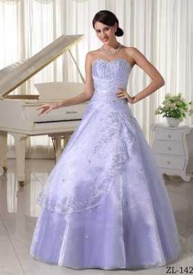 New Style Sweetheart Appliques and Beading A-line Quinceanera Dresses For 2014