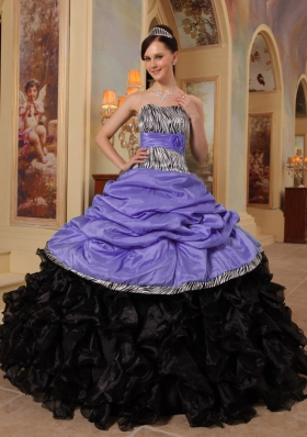 Puffy Sweetheart Ruffles and Pick-ups 2014 Quinceanera Dresses