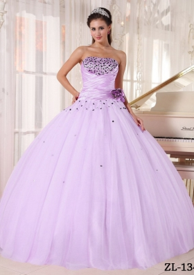 Romantic Puffy Strapless Beading and Ruching 2014 Quinceanera Dresses