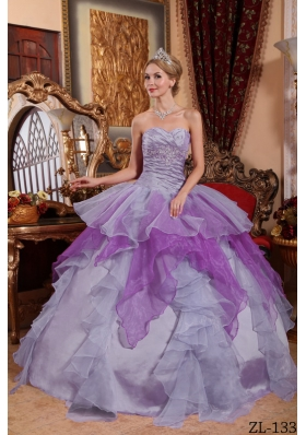 2014 Affordable Sweetheart Appliques and Beading Quinceanera Dresses