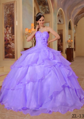 2014 Elegant Purple Ball Gown Sweetheart Beading Quinceanera Dresses