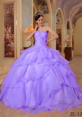 2014 Elegant Purple Ball Gown Sweetheart Beading Quinceanera Dresses