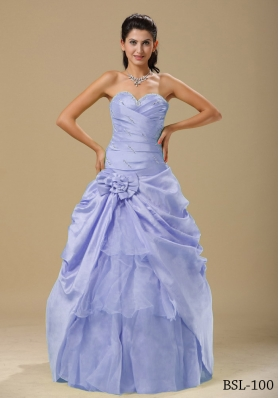 2014 Wonderful Hand Made Folwers and Ruched Bodice Quinceanera Dresses