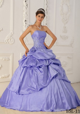 Cute Princess Strapless 2014 Spring Quinceanera Dresses with Beading