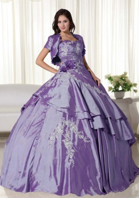 New Style Puffy Strapless Appliques Quinceanera Dresses for 2014