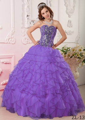 Pretty Sweetheart Ruffles and Beading Quinceanera Dresses for 2014